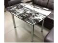 Стол обеденный со стеклом с фотопечатью. 1